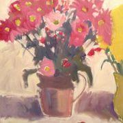 Pink flowers, doubleton jug