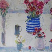 Chrysanths & jugs