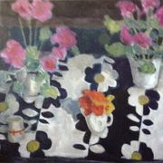 Geraniums, Inas Table