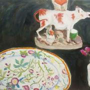 Cow, plate, jam jar