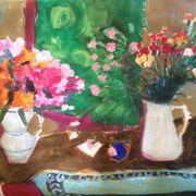 Alstroemeria, pinks & scarf