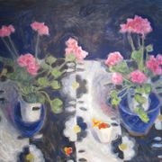 Geraniums, Ina's Table