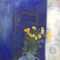Chair, yellow roses(triptych 1)