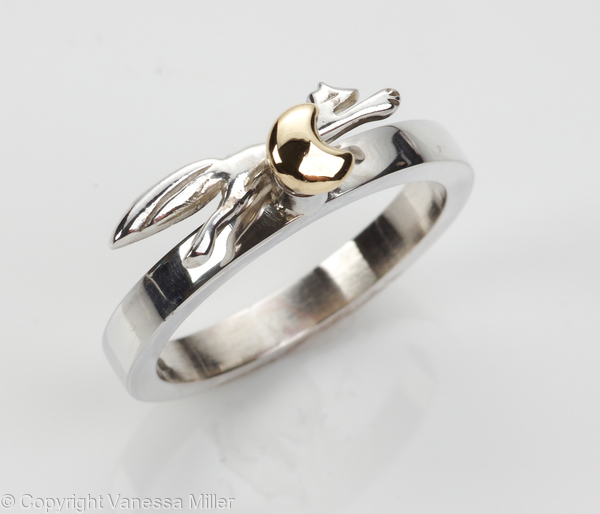 Fox Over the Moon Ring