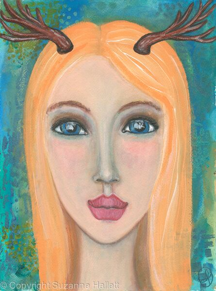 Lady with Antlers