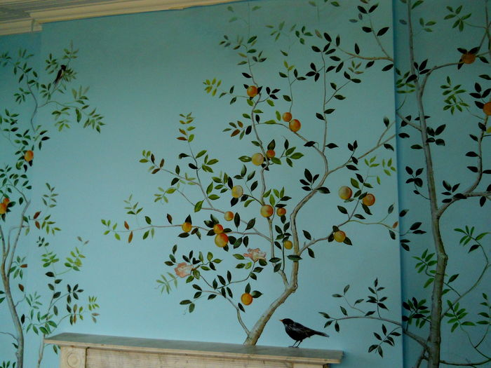 Wall Painting Designs Birds : Bird mural