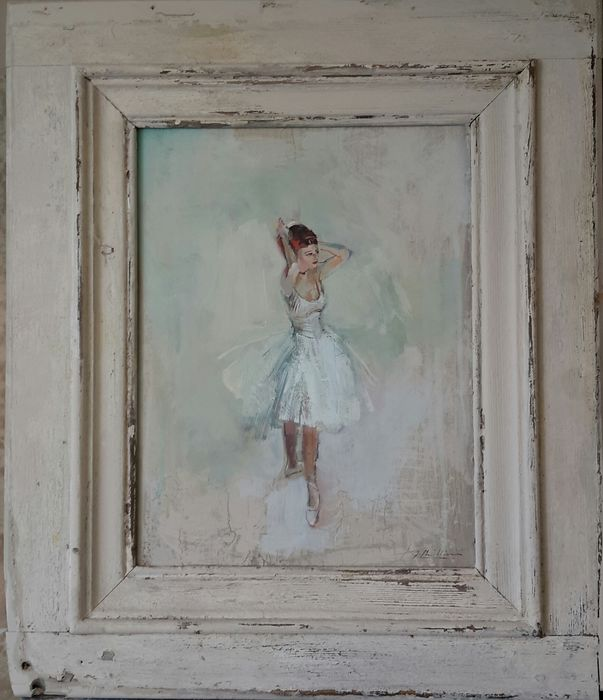 Dancer  in french window