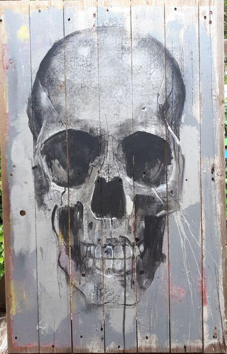 Spray Paint Art Skull