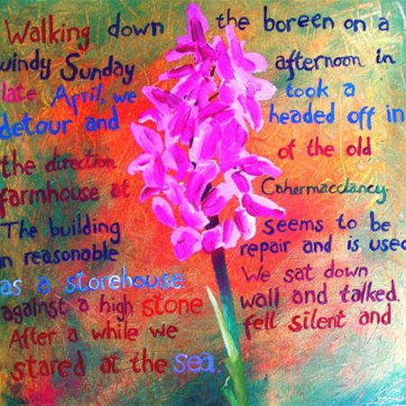 Doolin Flower Painting No. 1 - The Need For Human Connection