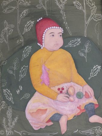 The Royal Baby - Recreation of a 17th century Mughal miniature painting