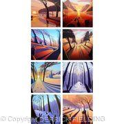 Four Seasons greeting cards