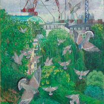 Pigeons and cranes
