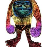 Monster-a-day art challenge: Wax sgraffito