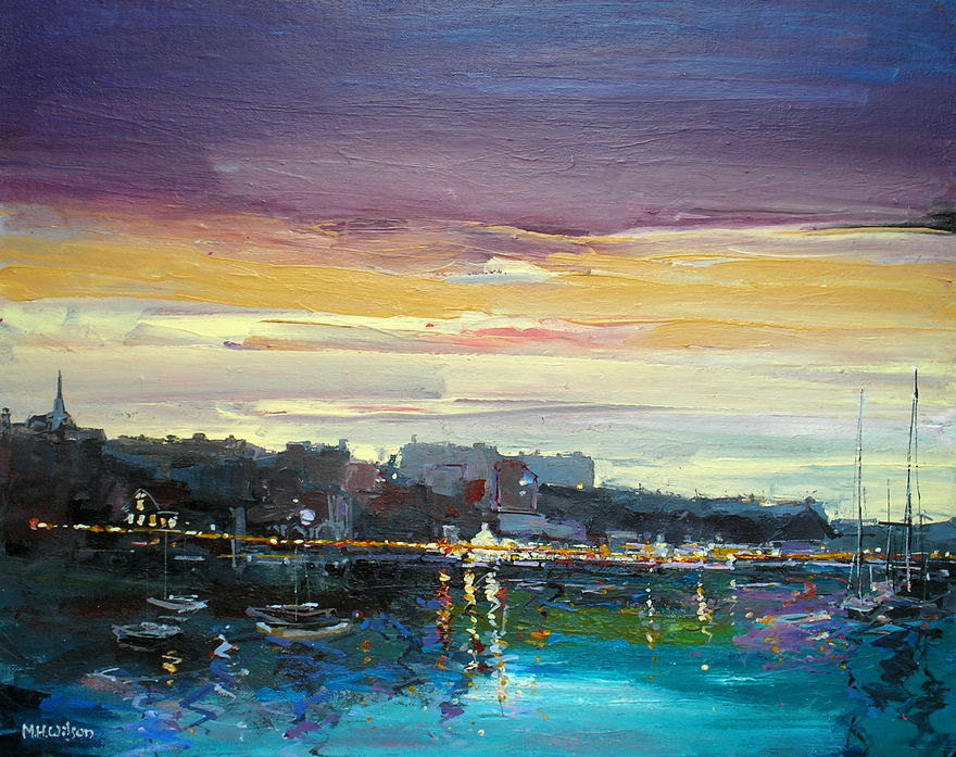 Evening Sky, Whitby Harbour