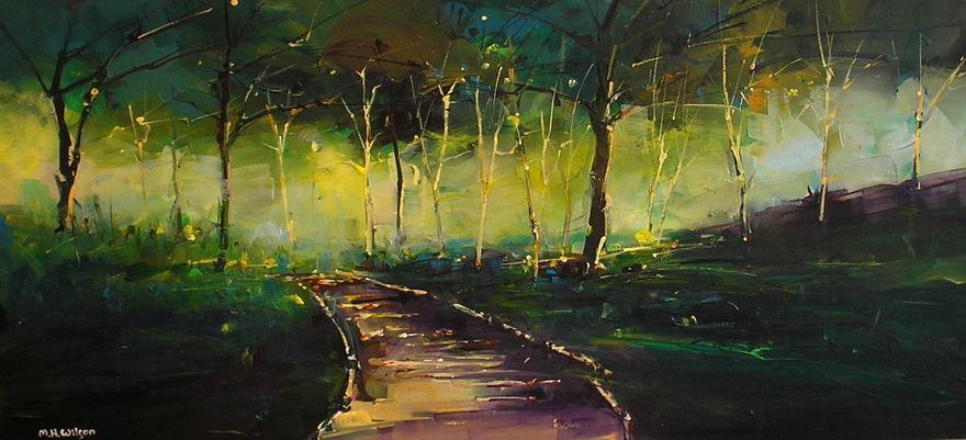 Sunlight &  Path, Broom Royd Wood
