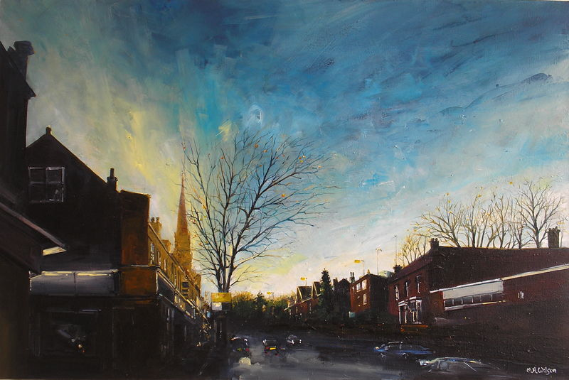 Winter Sunlight, Ecclesall Road, Sheffield