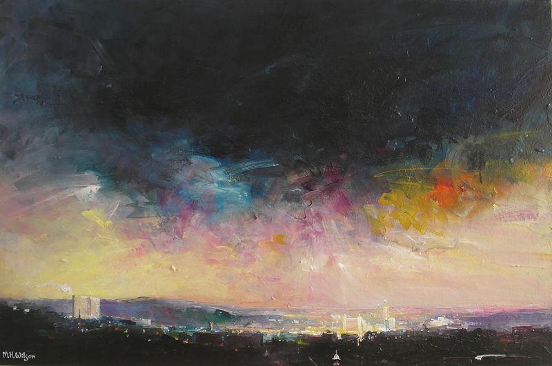 Evening Sky (Last Sunlight Over Sheffield)