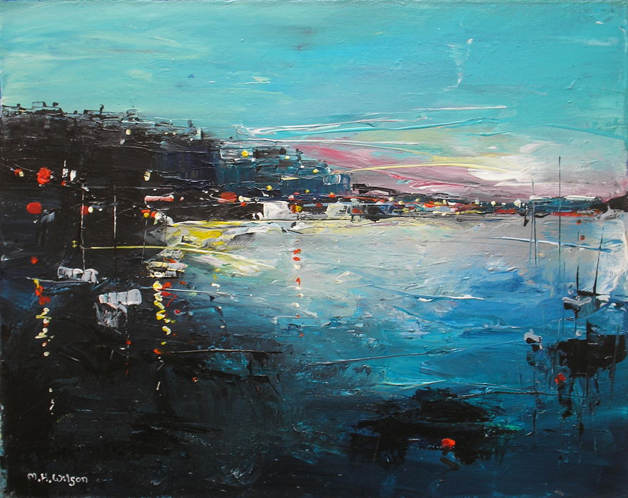 Evening, Harbour Lights