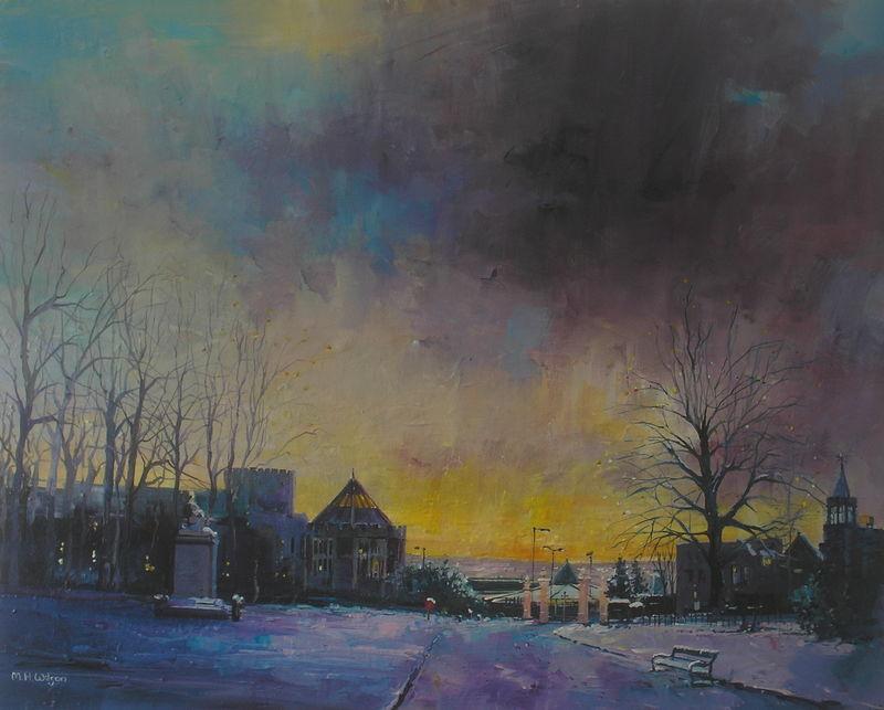 Snow Sky Dawn, Weston Park