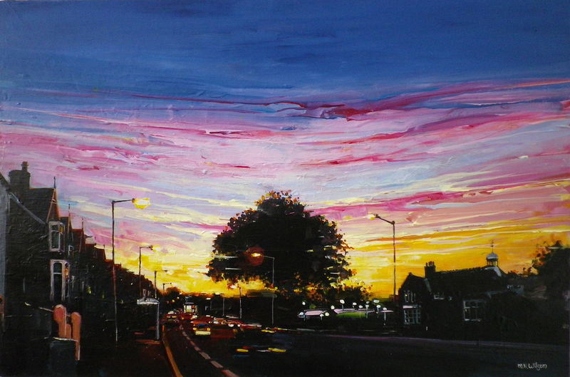 Eccy Road Sunset (Autumn)