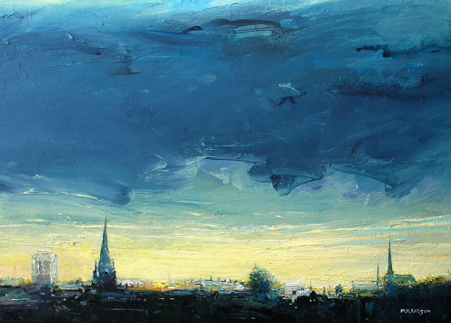 Rotherham Skyline Revisited [Dawn Stormclouds]
