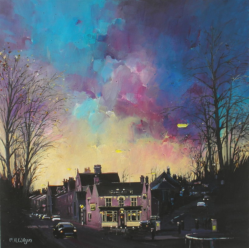 Winter Sunset Ranmoor Inn