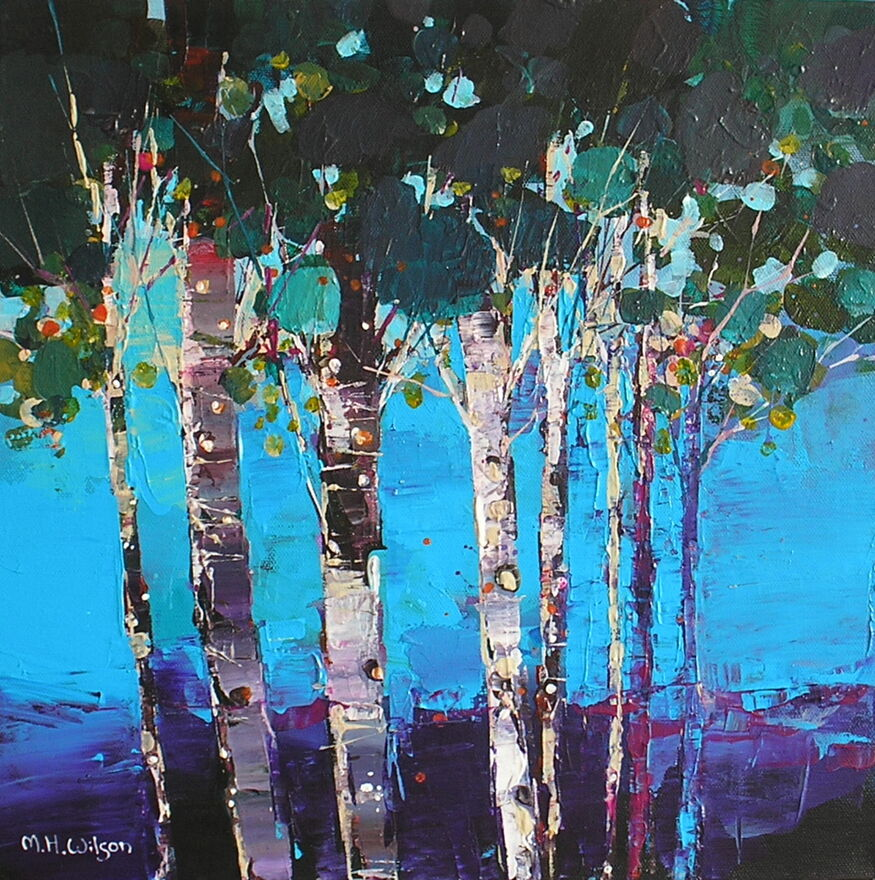 Blue Wood Birches