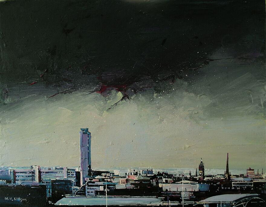Blue Grey City Sky