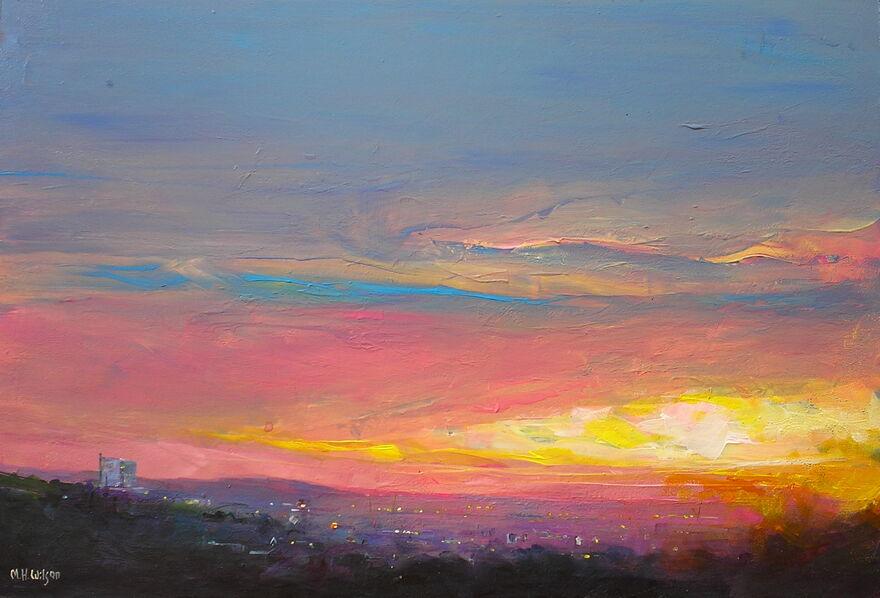 First Light, Sunrise over Sheffield
