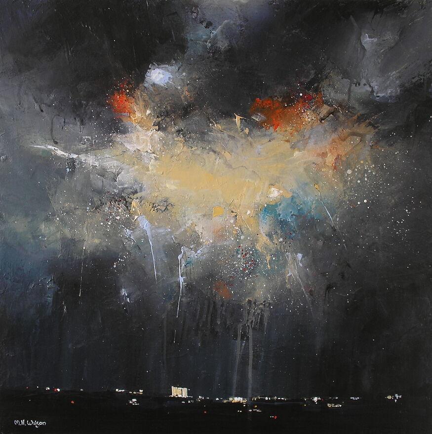 Dark Sky, City Storm Light