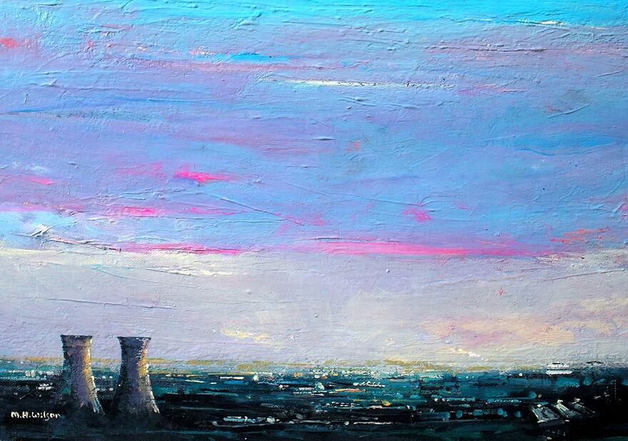 Evening Sky, Tinsley Towers