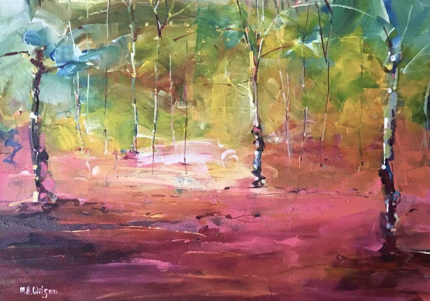 Three Birches, Autumn