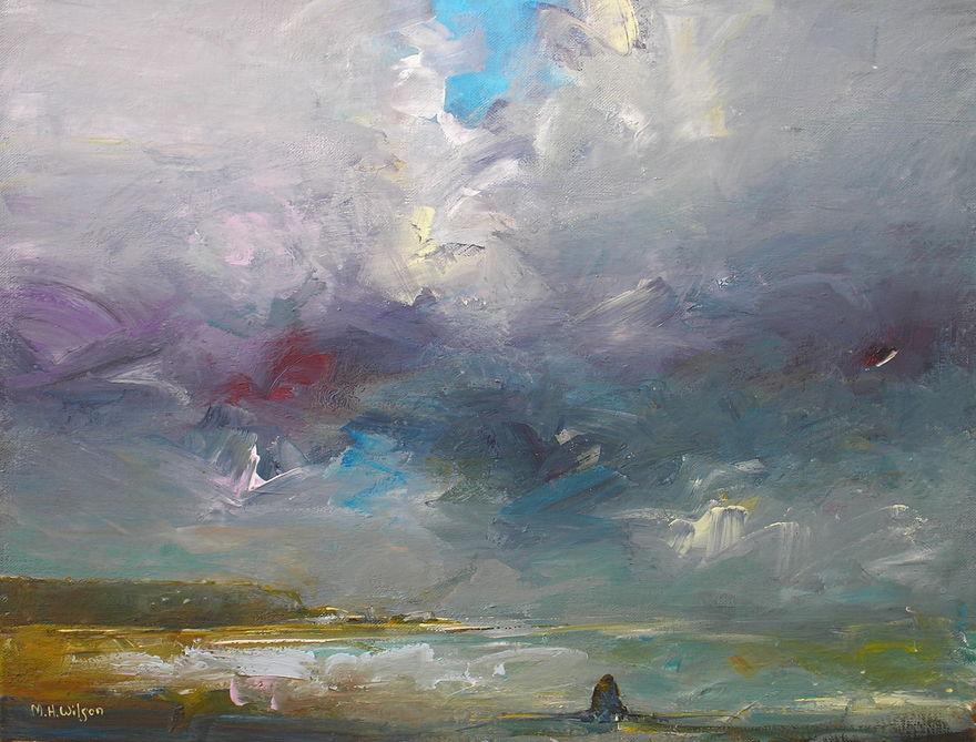 Storm Sky Light, Saltwick Bay (Black Nab)