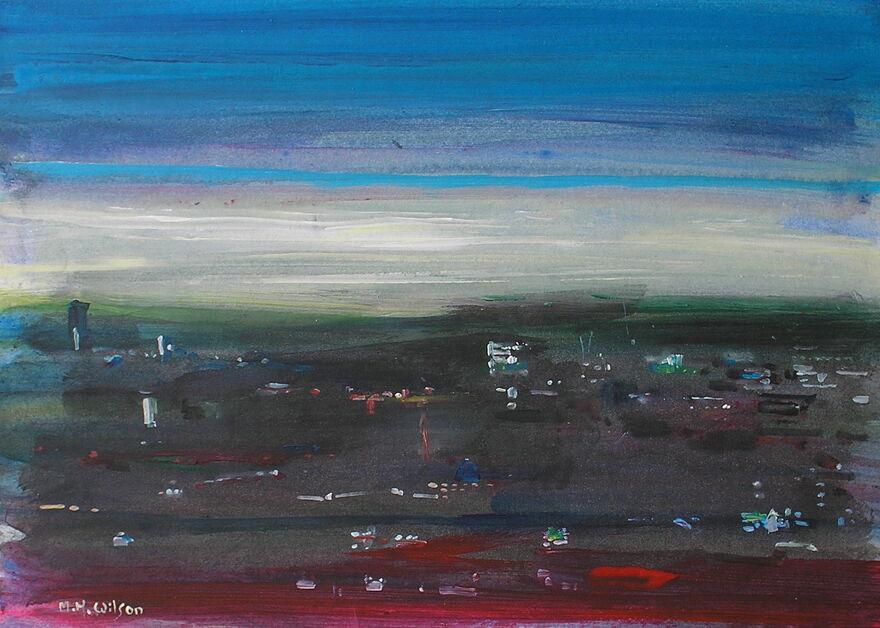 Overcast dawn {Sheffield from Meresbrook]
