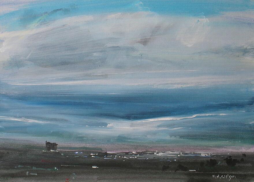 Morning storm sky over Sheffield