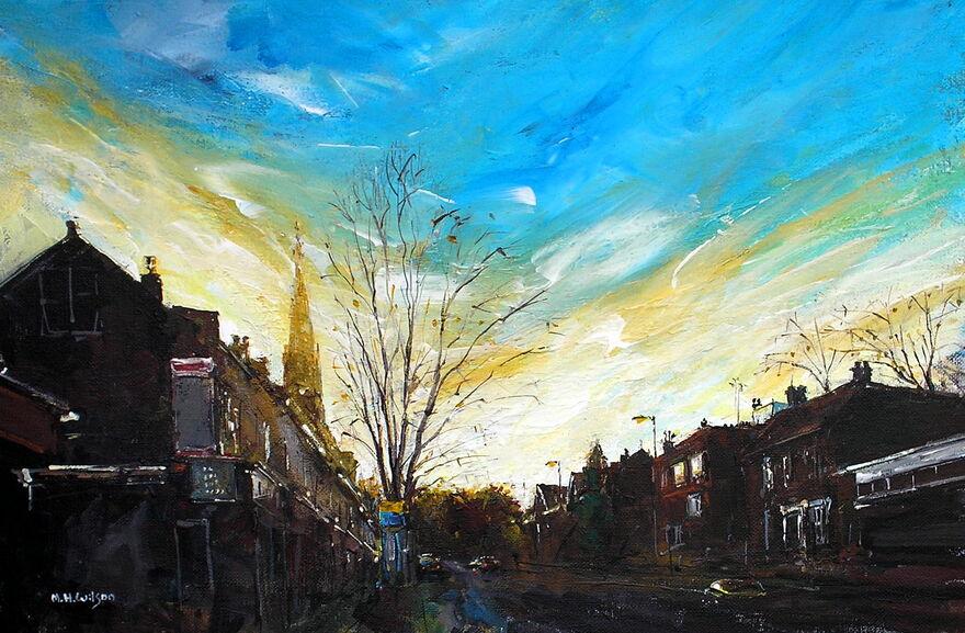 Autumn Winter Sunlight, Ecclesall Road 2