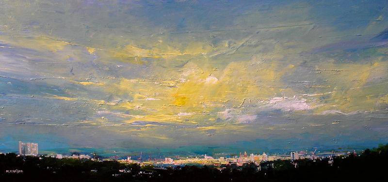 Evening Sky, Last Sunlight Over Sheffield