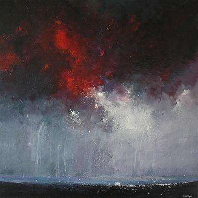 Red Storm Passing Over
