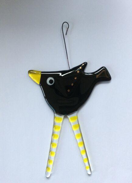 Hanging blackbird