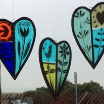 Painted heart panels