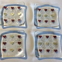 Small heart dishes