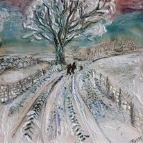 Two in a Snowy lane