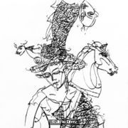 Girl with Hobby Horse I