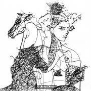 Girl with Hobby Horse, Decorative Horse and Jockey