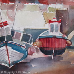 Boats in the Beck : Staithes
