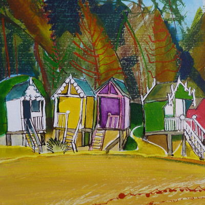 beach huts: wells