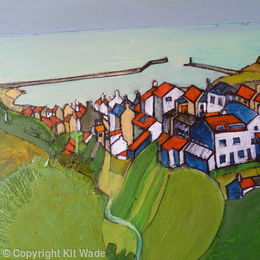 Staithes Harbour from Rolling Cross