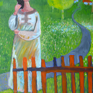 Waiting At The Gate, Woman In The Village