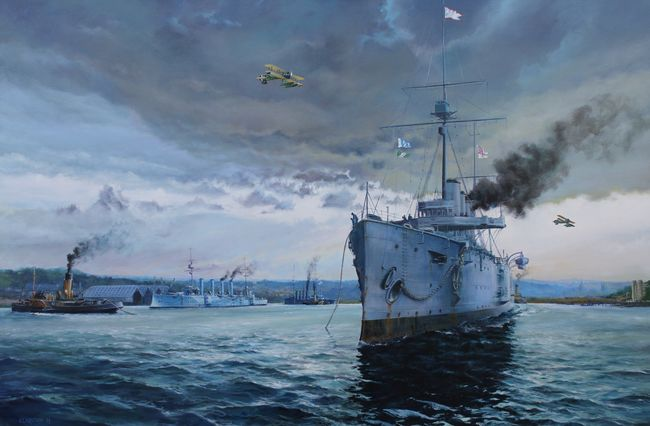 Live Bait, 7th Cruiser Squadron, Chatham 1914