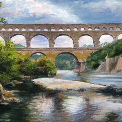 Pont du Gard, aqueduct, Languedoc, 2